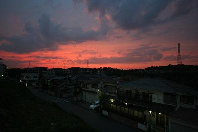 夏至の日の夕焼け画像