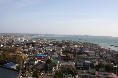 崖観音舟形山大福寺から見た海画像