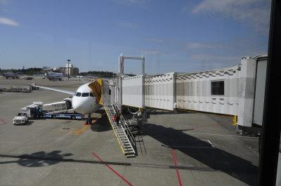 成田空港エアアジア飛行機画像