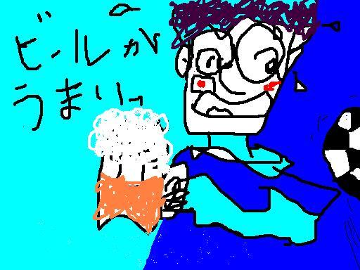 ビールが旨いサッカーで.JPG