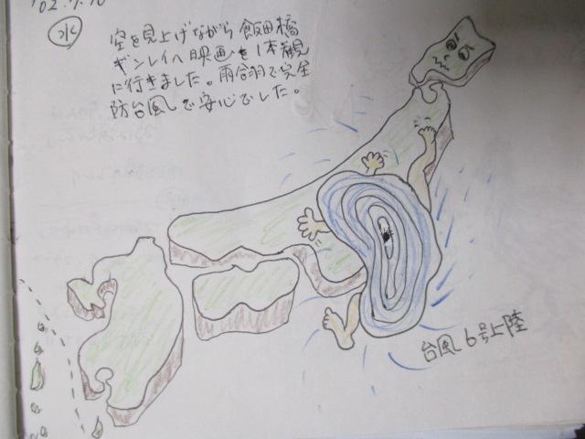 台風上陸図