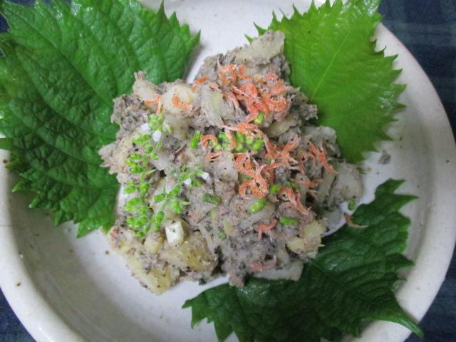 ブルーポテトサラダ