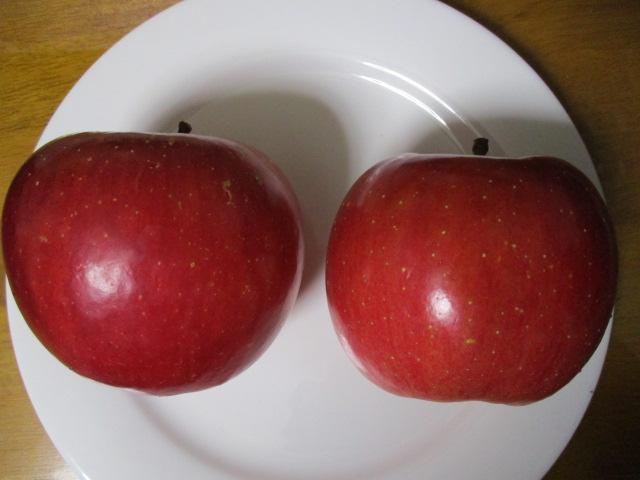 りんご横から