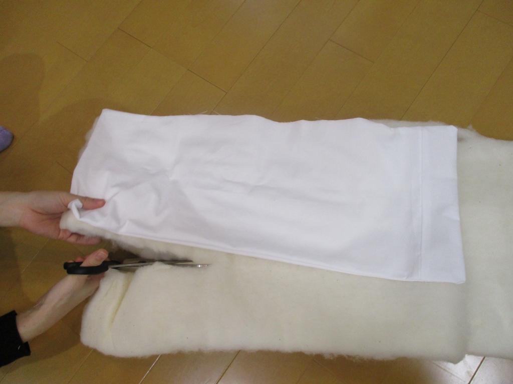 枕用途綿カット