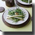 シェーブルチーズとアスパラのサラダ