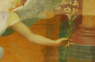 シャーリ修道院、チャペルのフレスコ画、一部