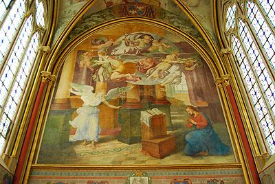 シャーリ修道院、フレスコ画、全体
