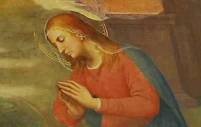 シャアリ修道院、チャペル、フレスコ画、マリア