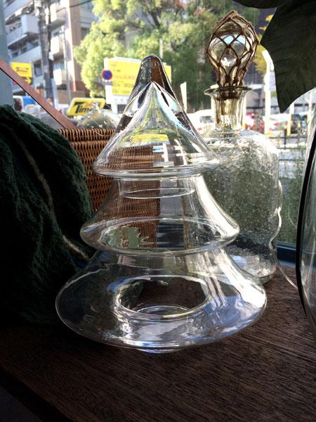 クリスマスツリーガラスコンテナー