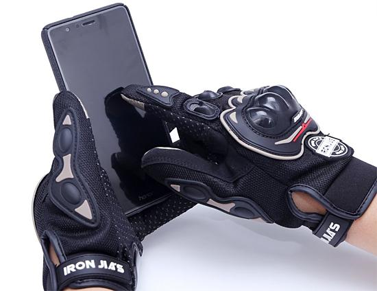 プロテクター01:プロテクター付きバイク用メッシュ手袋