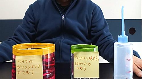 ガソリン携行缶:ガソリン移し替え解説