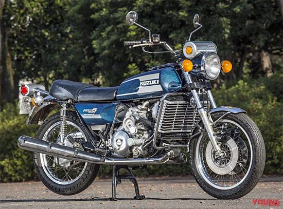 ロータリーエンジン バイク:スズキRE-5本体図