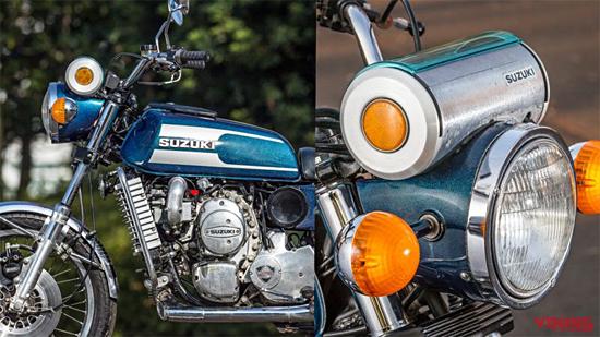 ロータリーエンジン バイク:スズキRE-5メーター周り