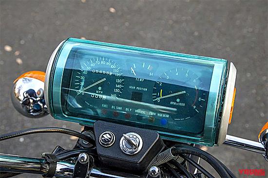 ロータリーエンジン バイク:スズキRE-5メーター