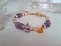 紫薔薇とカルセドニー