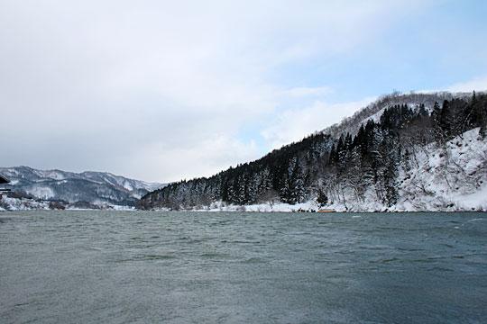 最上川舟下り雪景色