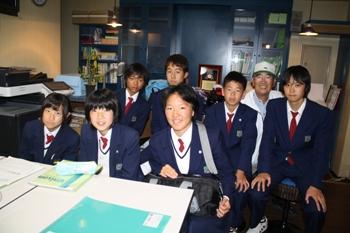 神奈川県から中学生の訪問があり...