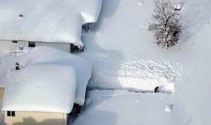 ふとんのような雪