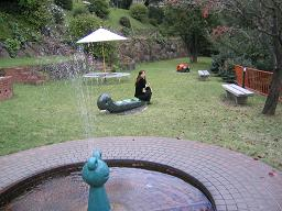ケロちゃん噴水