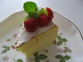 シフォン生地ケーキデコ