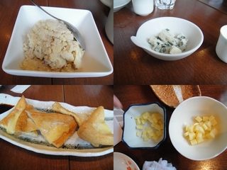 ポテトサラダとチーズ入り焼き油揚げ
