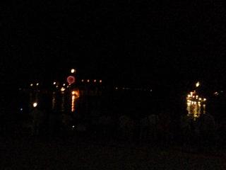 錦帯橋の花火と御座船