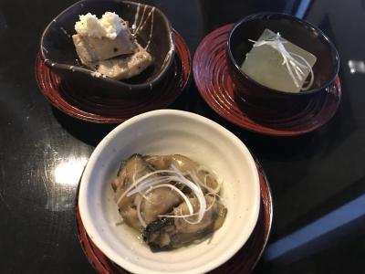 四季祭のお料理3種