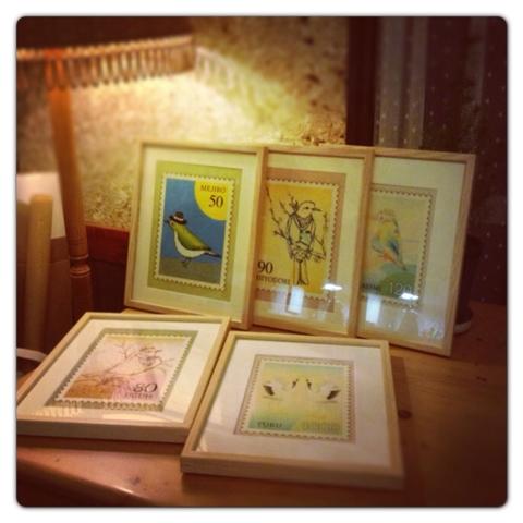 野鳥、切手イラスト
