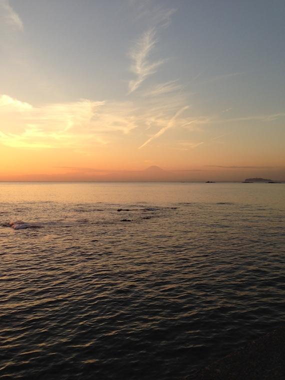 葉山 江ノ島 富士山 夕焼け