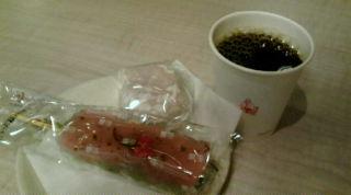 桜団子と苺あんの大福