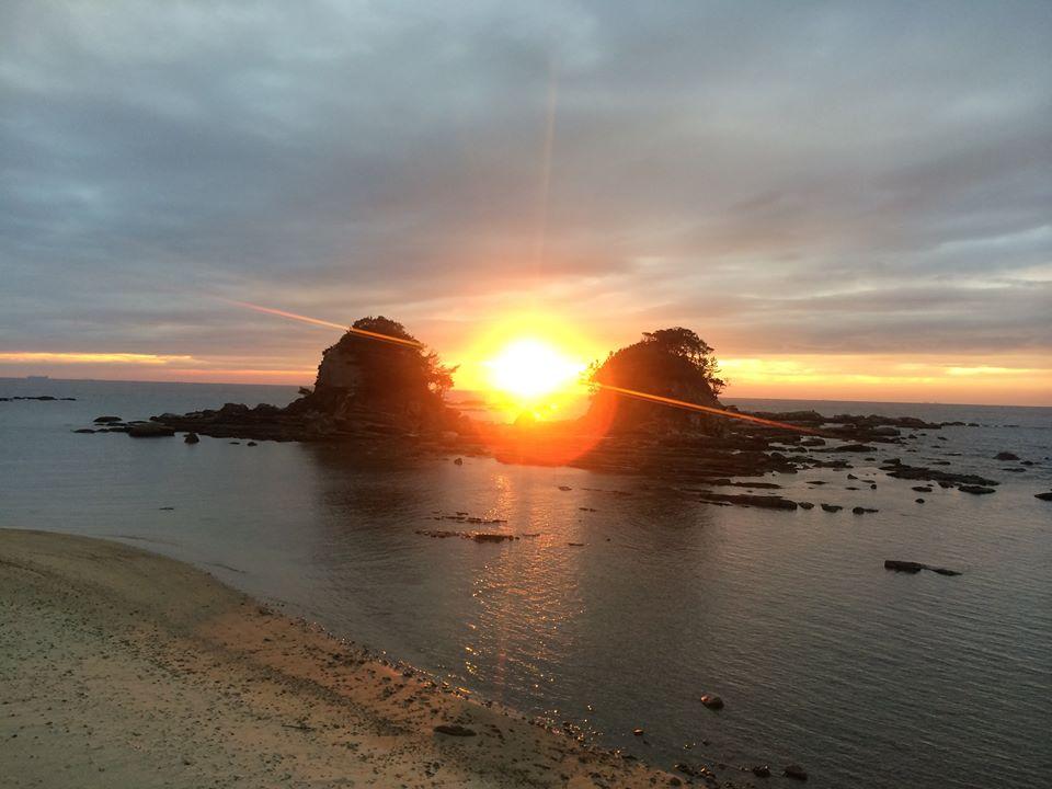 Calm前の夕陽
