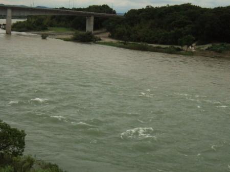 木曽川増水