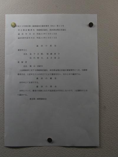 鳩山由紀夫議決書