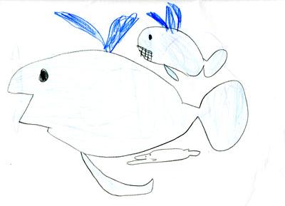 親子クジラ_絵本と本と子供の絵ブログ