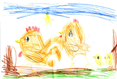 にわとりとひよこ_絵本と本と子供の絵ブログ