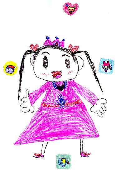 お友達が描いてくれた娘の絵_絵本と本と子供の絵ブログ