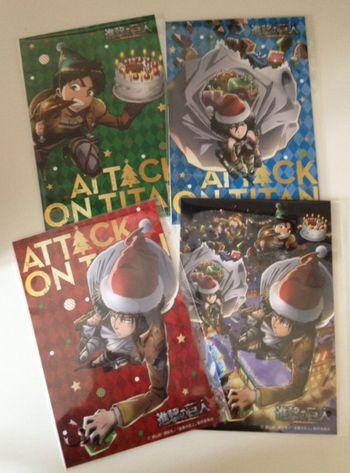 進撃のクリスマスカード