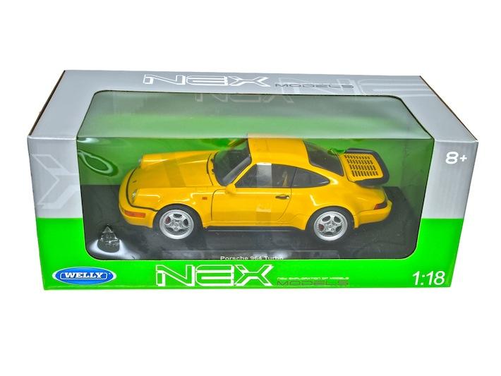WELLY 1/18 ポルシェ 964 ターボ(イエロー)ミニカー