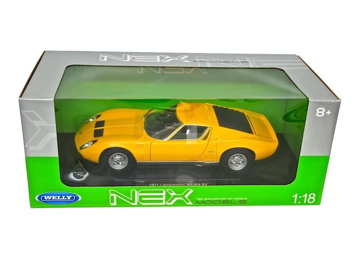 WELLY 1/18 ランボルギーニ ミウラ P400SV 1971(イエロー)ミニカー