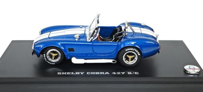 京商1/43 シェルビーコブラ427S/C(ブルー/ホワイト)ミニカー