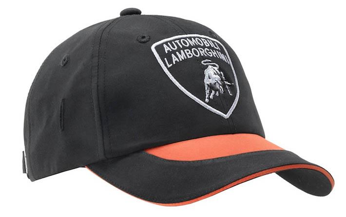 ランボルギーニ・メンズスポーツキャップ(ブラック&オレンジ)