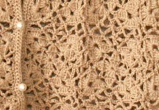 手編みのキャミソール(模様拡大)