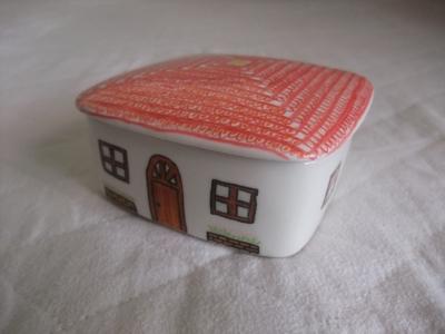 手描き陶器(家・1)