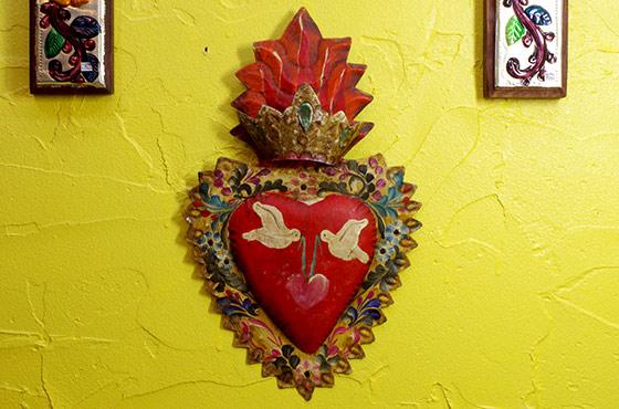 メキシコ インテリア雑貨 ブリキ 壁掛け 壁飾り ディスプレー ニチョ コラソン ハート