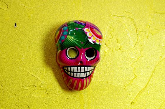 インテリア ディスプレー メキシカンスカル メキシコ雑貨 壁飾り 壁掛け スカル ドクロ ガイコツ