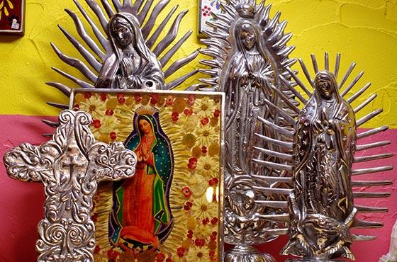 メキシカンピューター ピューター アルミ インテリア マリア グアダルーペ メキシコ ディスプレー 聖母