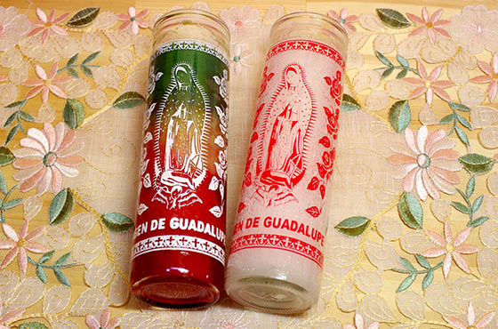 メキシコ雑貨 マリア グアダルーペ キャンドル ロウソク 蝋燭 ギフト プレゼント バレンタイン ホワイトデー クリスマス 周年祝い 結婚祝い バースデイ 誕生日 引越し祝い 入学祝い 就職祝い 贈り物