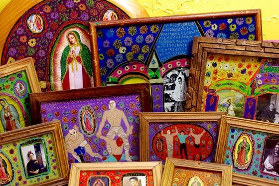 メキシコ アート インテリア 絵画 壁掛け 手作り DHISUPURE-