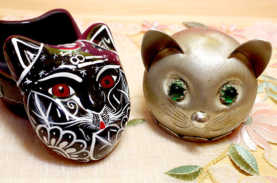 メキシコ メキシカンスカル ガイコツ ネコ ねこ 猫 小物入れ 入れ物 インテリア エスニック