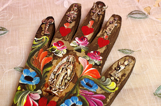 インテリア メキシコ 壁掛け 壁飾り メキシカンインテリア おしゃれ かわいい ミラグロ 手 マノ 手形